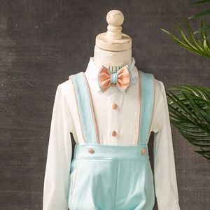 From Boutique beautiful toddler suspenders set